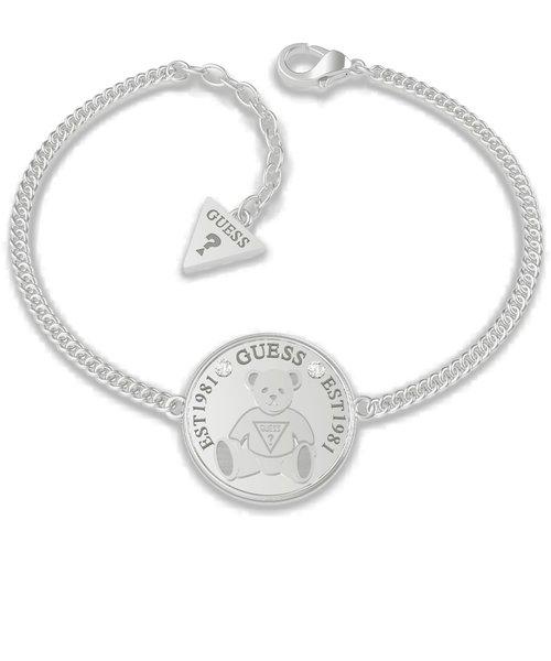 VINTAGE BEAR Bear Coin Chain Bracelet (Silver)
