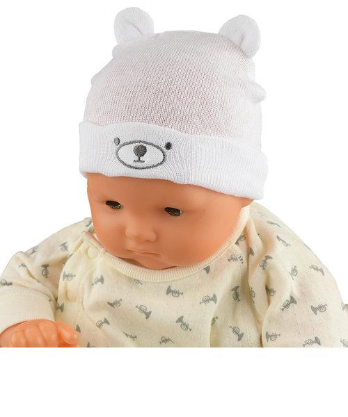 ニット帽子 クマ 生まれてすぐにかぶれるサイズ