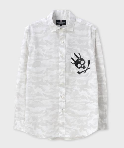 迷彩プリント  シャツ
