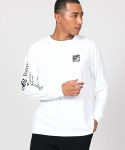 〔SPORTS LINE〕ラバーワッペン  袖リブロングTシャツ