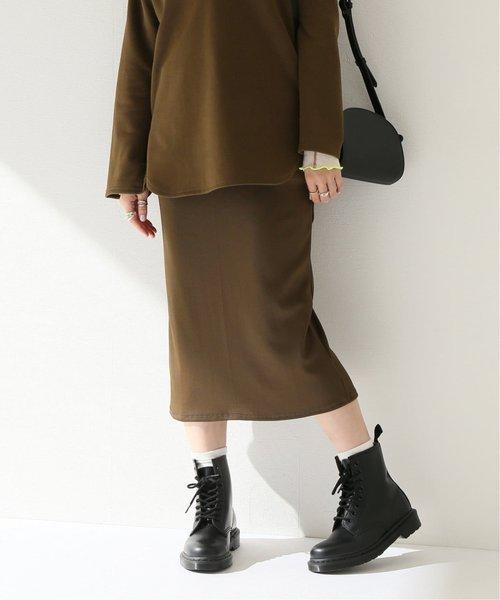グロッシーリブタイトスカート