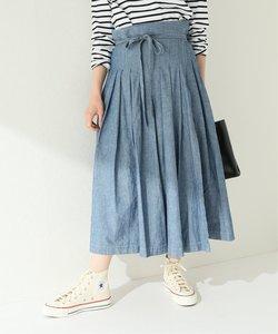 【ARMEN/アーメン】 PLEATED WRAP SKIRT:スカート
