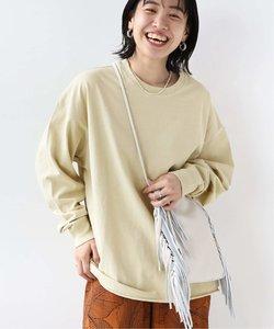 【STAR&STRIPE】CREW L/S SLIT TEE:Tシャツ◆