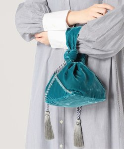【JAMIRAY/ジャミレイ】ベルベット巾着ハンドバッグ◆