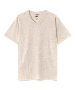 ヘインズ VネックTシャツ メンズ