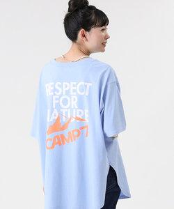 キャンプ7 バックロゴプリントTシャツ