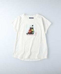 ハニーサックルローズ ラウンドプリントTシャツ