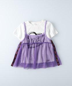 テグテグ 【TEGTEG lovely2】 キャミレイヤードTシャツ
