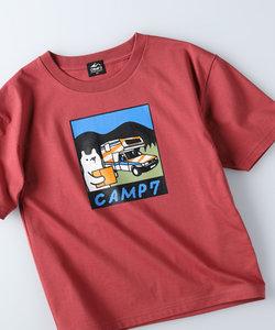 キャンプ7 KUMAカ―トプリントTシャツ