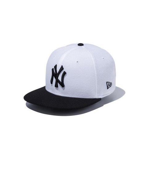 Youth 9FIFTY ニューヨーク・ヤンキース ホワイト × ブラック ブラックバイザー