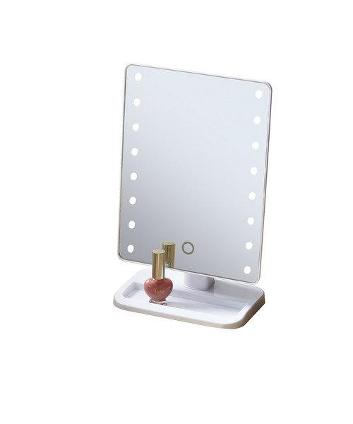 LED卓上ミラー(トレー付き)