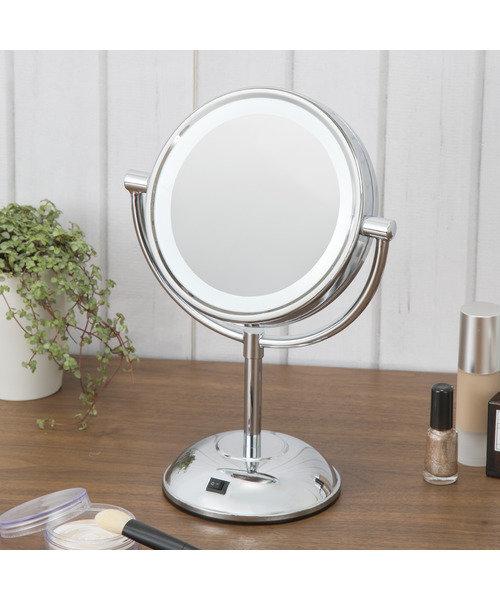 LED卓上ミラー円形 5倍鏡