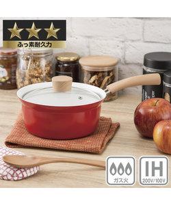 IH 片手鍋 18cm レッド(UMAMI)