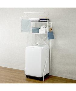 洗濯機ラック クルス(ピュアホワイト)
