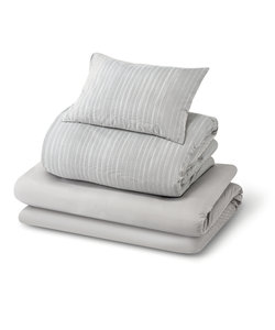 すぐに使える寝具6点セット(ストライプNV S)