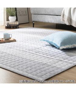綿使用 洗えるキルトラグ(コットンラインi 185X185)