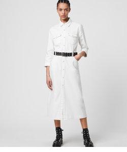 POLLY DENIM ドレス・ワンピース