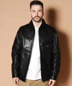 JE HORSE OIL LEATHER ZIP BLOUSON