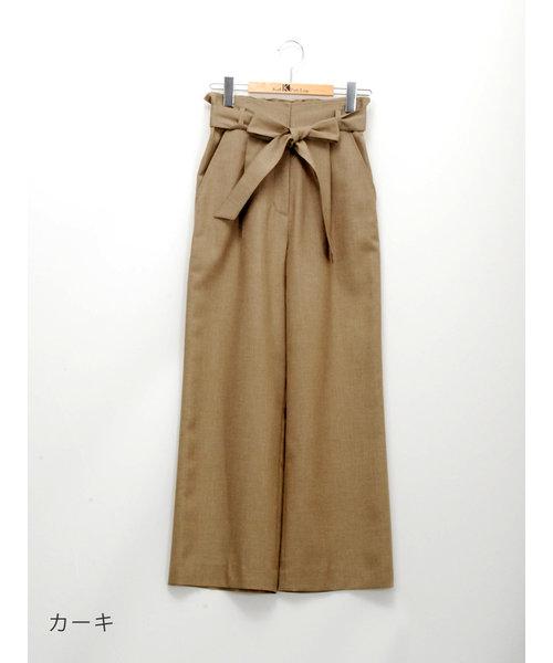 麻混太身パンツ