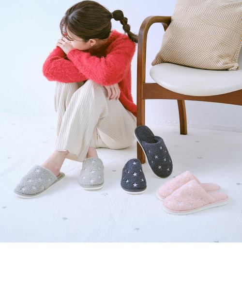 スター刺繍ルームシューズ/G-0001