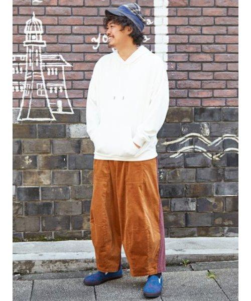 【チャイハネ】パッチワークMEN'Sワイドパンツ