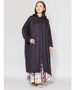 【チャイハネ】バック刺繍ロングシャツワンピース