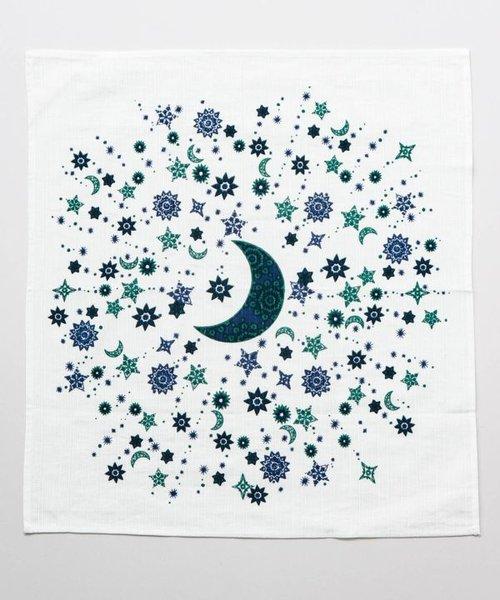 【チャイハネ】大風呂敷 夜空に輝く月星