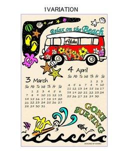 【Kahiko】2021年カレンダー HONU BUS TRIP