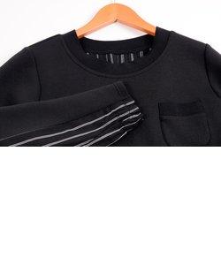 カットソーとシャツ地の異素材コンビ! OTONAの上品カジュアル チュニック