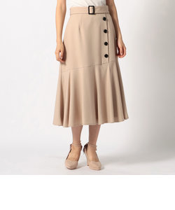 ボタン付きマーメイドスカート