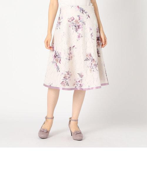 レース花柄スカート