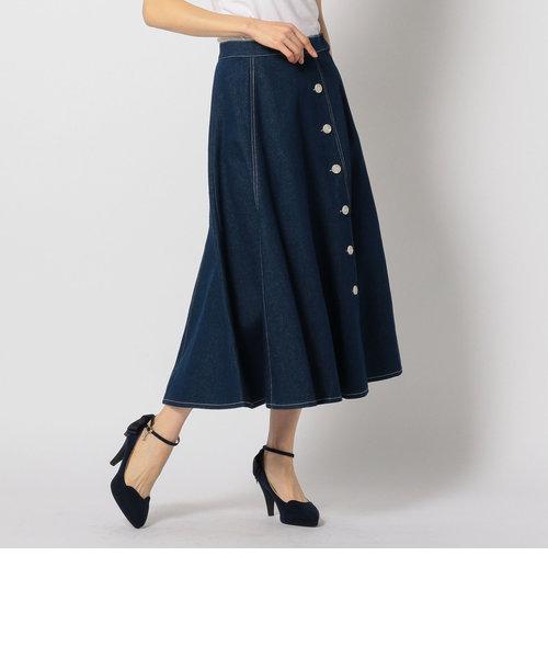 ボタン付マーメイドスカート