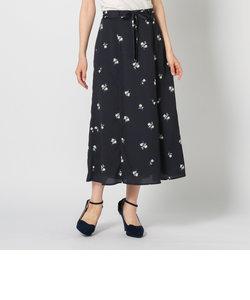 小花柄ナロースカート