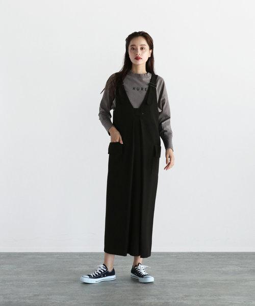 LASUD ベルトデザインジャンパースカート