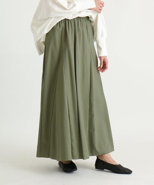 Bouchon(ブション) ナイロンギャザーカラースカート