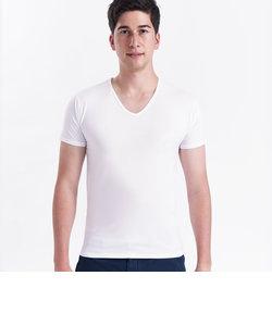 メンズ 半袖  アンダーシャツ 肌着 Vネック 白系 無地