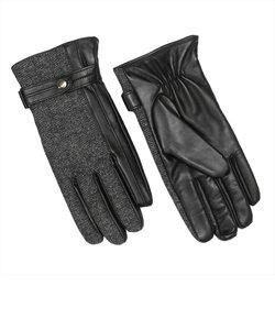 グローブ / 手袋 / ビジネス / メンズ / レザー 布帛コンビ 黒系