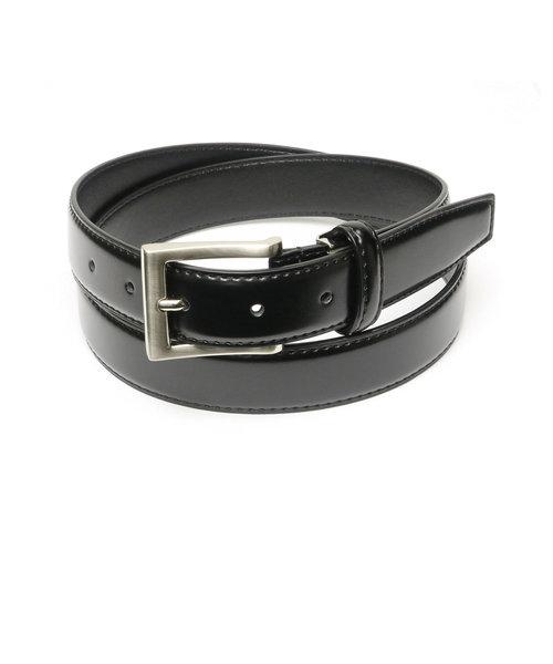 メンズベルト 黒系 110cm 牛革 ピンバックル式 (サイズ調節可能)