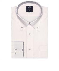 形態安定 ボタンダウン 長袖ビジネスシャツ