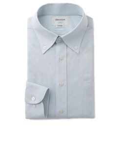 ウルトラコンフォート ブルー ボタンダウンシャツ 織柄
