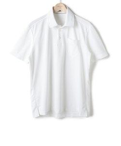 ドビー無地 ワイドカラー プルオーバー半袖ポロシャツ