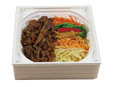 Beef ribs vegetables bibimbap
