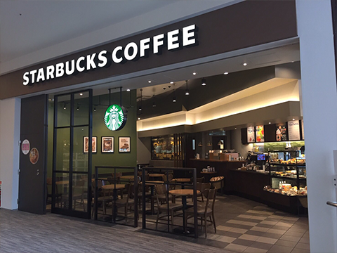 STARBUCKS COFFEE LaLaport TOYOSU the second floor of Southport store