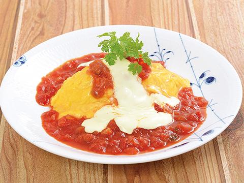 モッツァレラチーズとえびのトマトクリーム