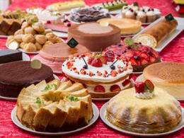 推荐的菜单浆果的蛋糕,fuwafuwa花蛋糕,布丁角色