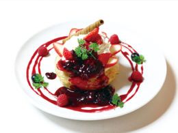 Recommended menu airy souffle pancake