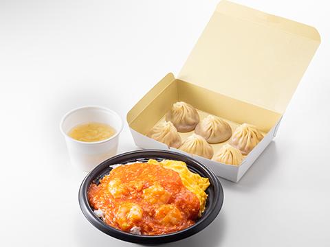 ランチ限定メニュー各種(丼+スープ+小籠包or麺類+小籠包)※丼はお選びいただけます
