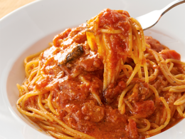 おすすめメニュー トマトとニンニクのスパゲティー