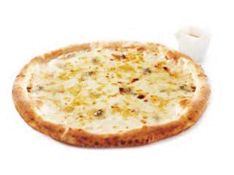 Pizza - honey ... of four kinds of cheese belonging to