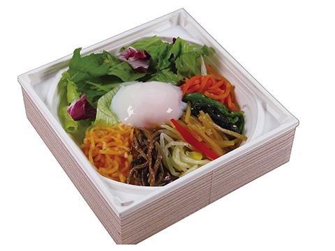野菜の温玉ビビンバ